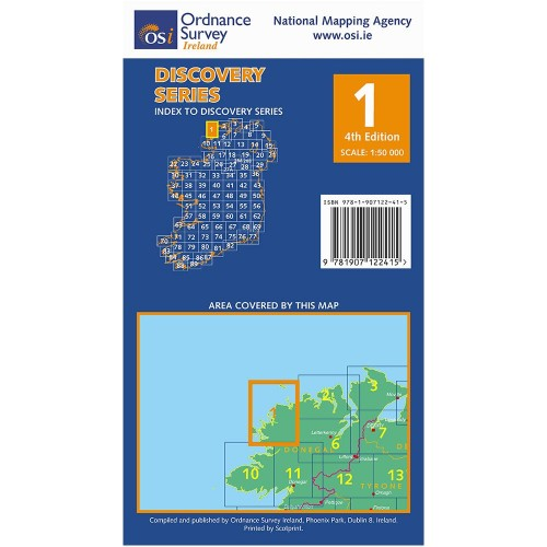 Osi Map Of Ireland.Osi Discovery Series Map 1 Donegal