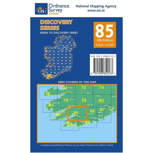 Osi Map Of Ireland.Osi Discovery Series Map 85 Cork And Kerry
