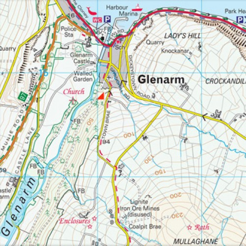 Os Map Of Ireland.The Glens Of Antrim Activity Map Ordnance Survey Northern