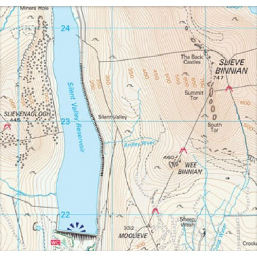 Os Map Of Ireland.The Mournes Including Slieve Croob Activity Map Ordnance Survey
