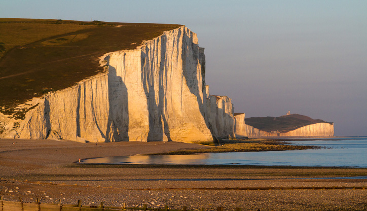 The Seven Sisters Cliffs on the South Downs Way