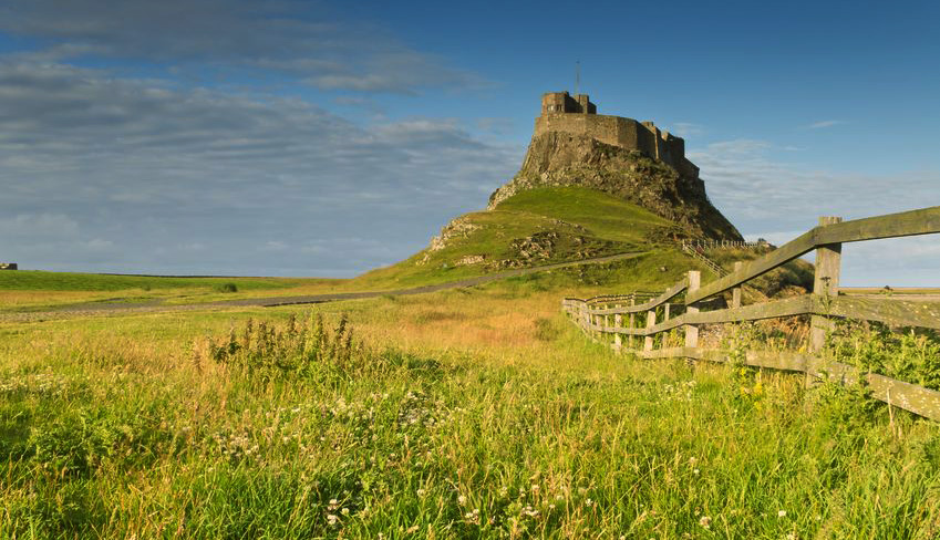 Lindisfarne Holy Island at the end of St. Oswald's Way