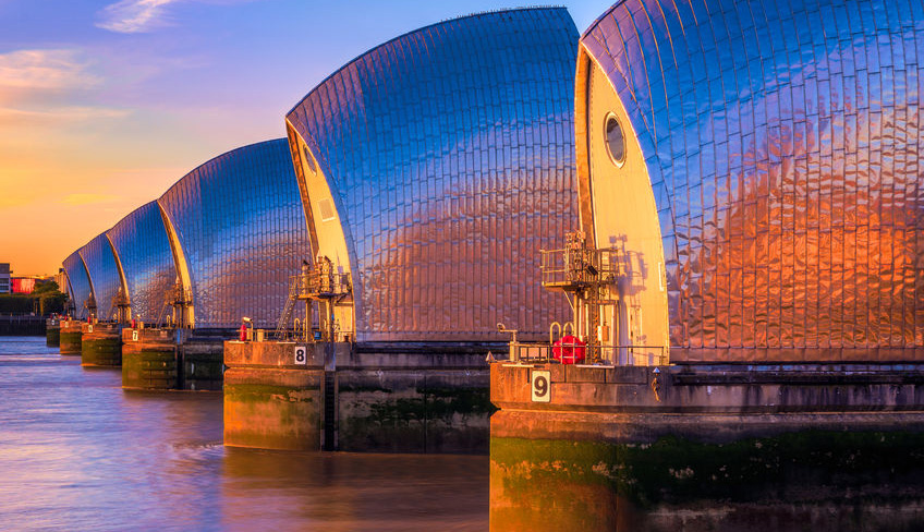 Thames Barrier on the Thames Path