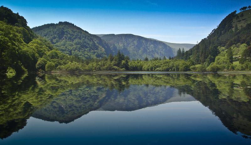 Glendalough's Lower Lake on the Wicklow Way