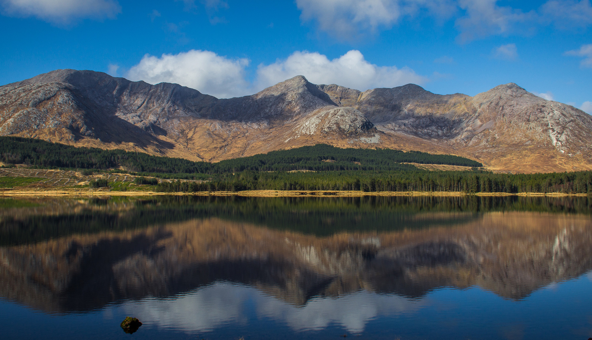 Lough Inagh and the Twelve Bens on the Western Way in Connemara