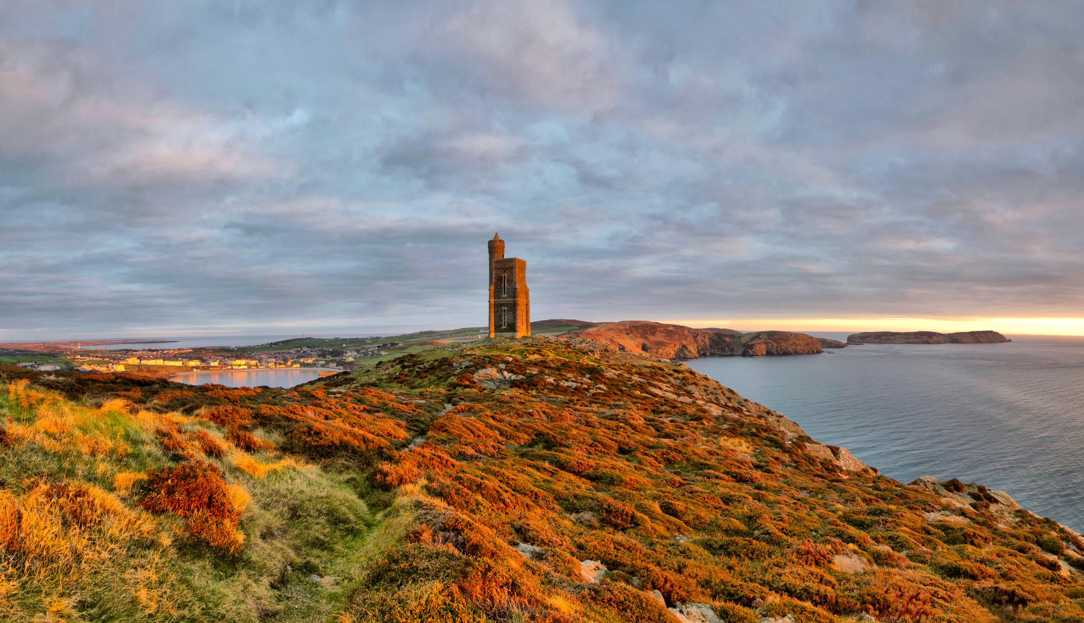 The Milner Tower on the Isle of Man Coastal Path