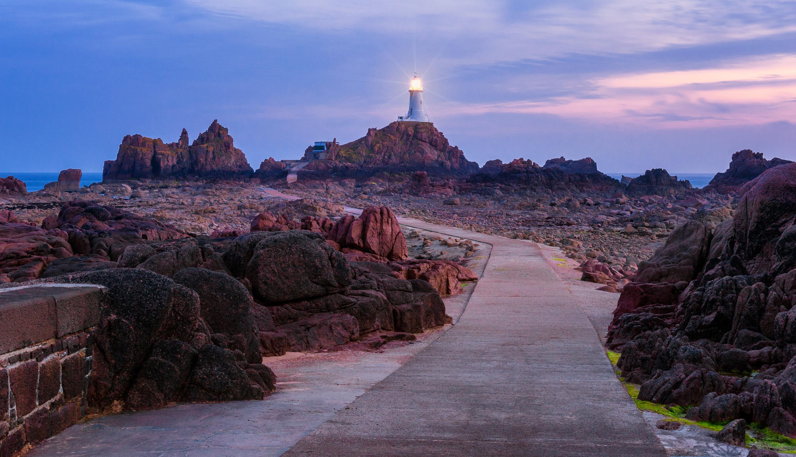 Corbiere Lighthouse on the Jersey Coastal Path
