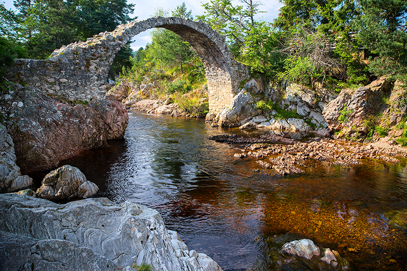 The Old Packhorse Bridge on the Speyside Way