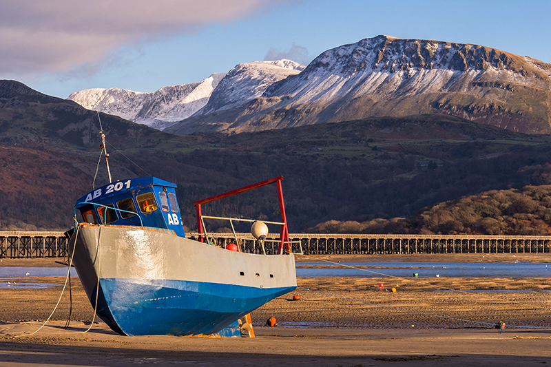 Barmouth with a backdrop of Snowdonia National Park