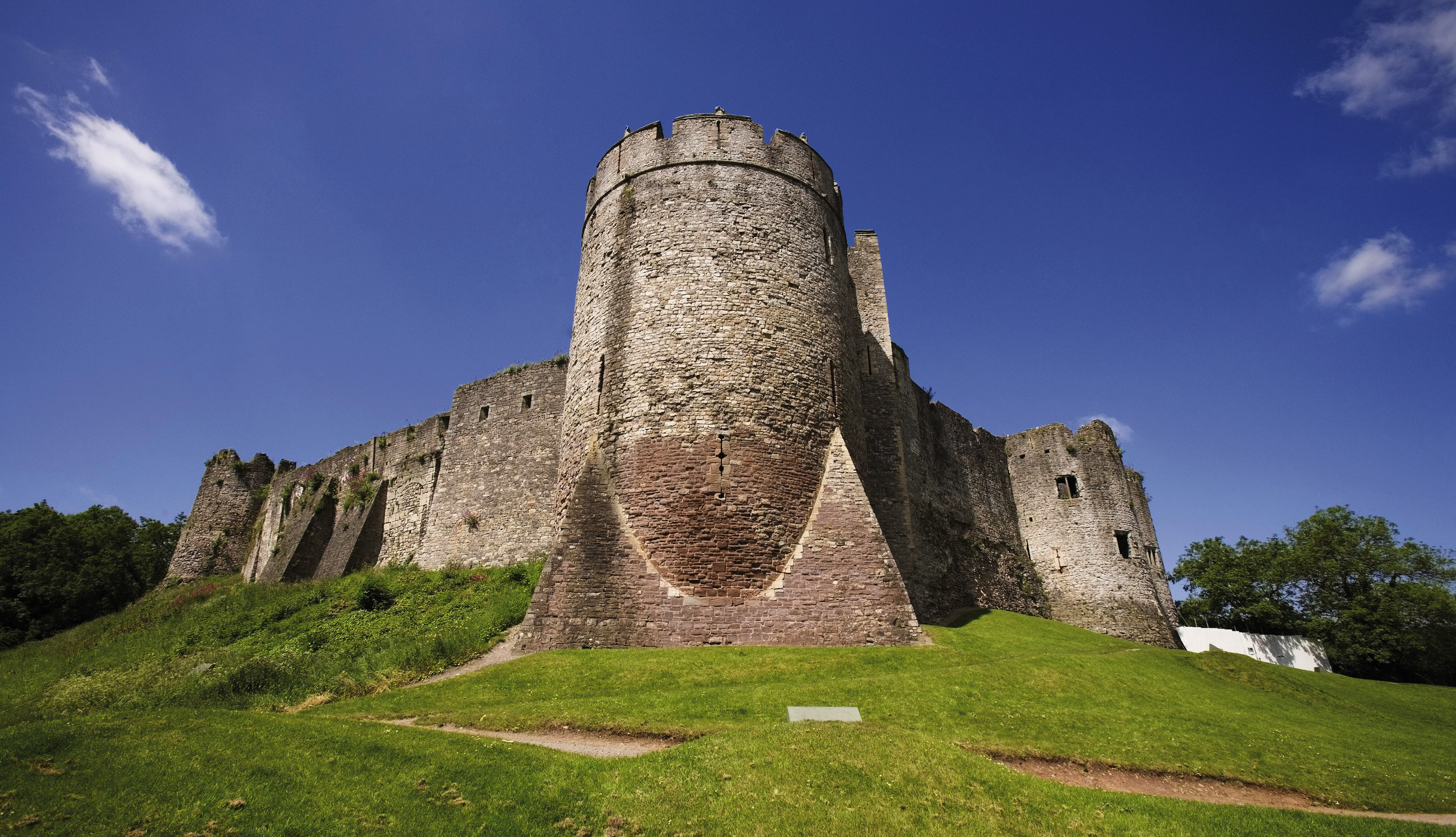 Chepstow Castle on Offa's Dyke Path